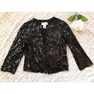 BB Dakota Black Sequin Jacket